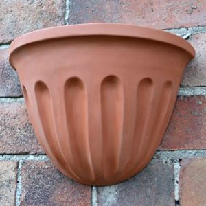 Picture of Fluted Design Terracotta Wall pot