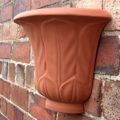 Acanthus Leaf Wall Planters Terracotta Uk Com The Home