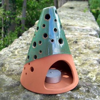 Picture of Green Glazed Cone Lanterns