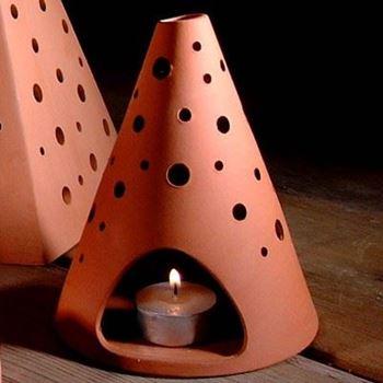 Picture of Plain Terracotta Cone Lanterns
