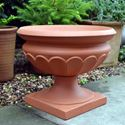 Picture of Terracotta Garden Urn with Pedestal Base