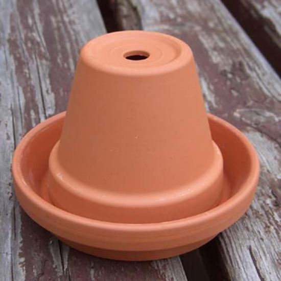 Picture of Mini-Flower Pot Terracotta Ashtray