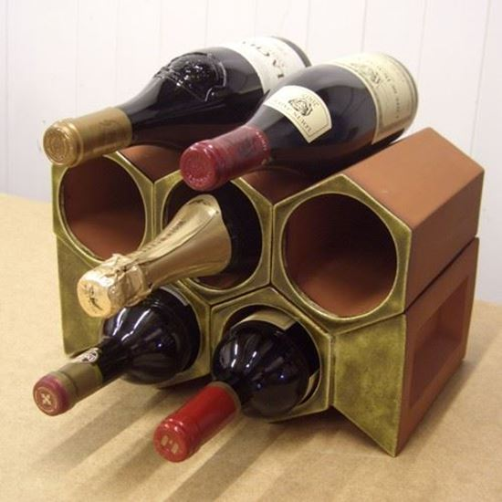 Picture of Colour Glazed Terracotta Wine Racks