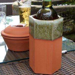 Picture of Standard Glazed Hexagonal Wine Coolers