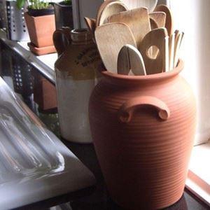 Picture of Glazed & Unglazed Panella Utensil Jar