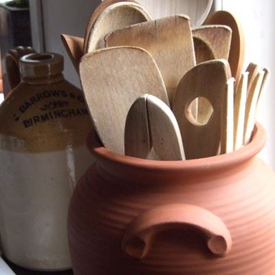 Glazed Amp Unglazed Panella Utensil Holders Terracotta Uk