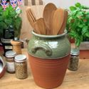 Picture of Glazed & Unglazed Panella Utensil Jar
