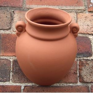 Picture of Terracotta Wallpots - Classical Urn Design