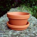 Picture of Half Flower Pot & saucers   13cm x 7.5cm