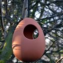 Picture of Terracotta Egg Hanging Bird Feeder