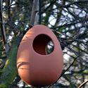 Picture of Terracotta Egg Hanging Bird Feeder