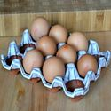 Picture of Ceramic Egg Holder | 12 Eggs - Oyster Glaze