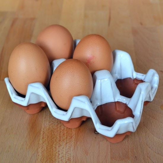 Picture of Ceramic Egg Holder | 6 Eggs - White Glaze