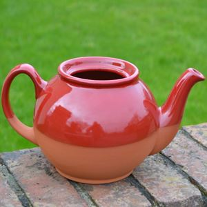 Picture of Teapot Planter with Red Glaze