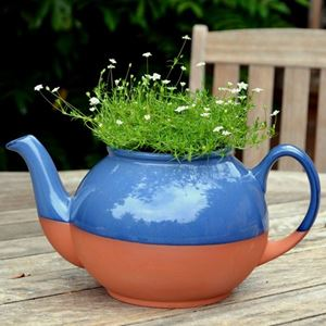 Picture of Teapot Planter with Blue Glaze