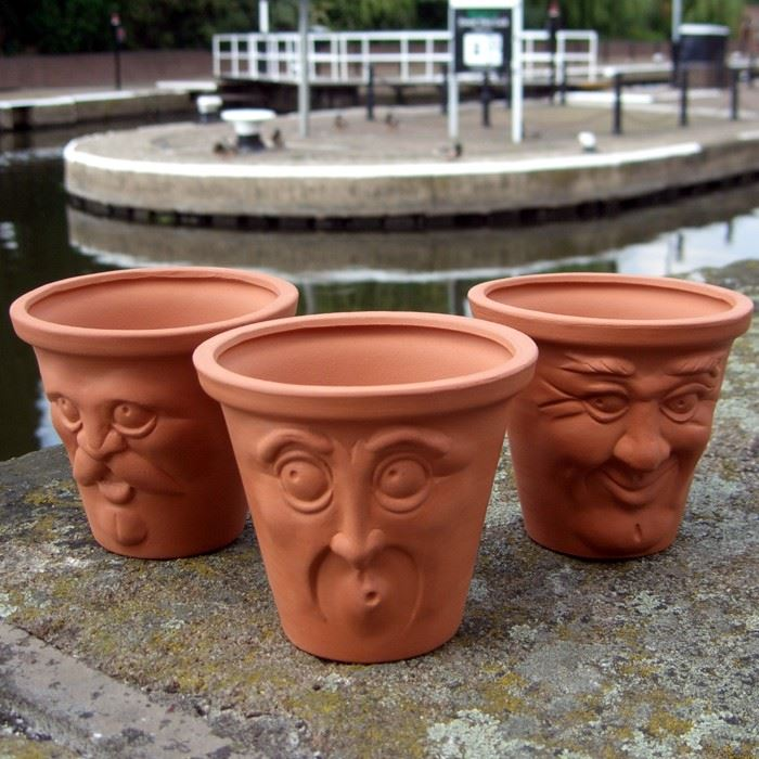 Terracotta Face Pots The Home Of Uk