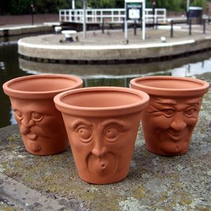 Picture of Terracotta Face Pots