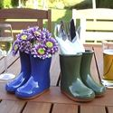 Picture of Glazed Welly - Planter or Vase - Green, Blue or Red