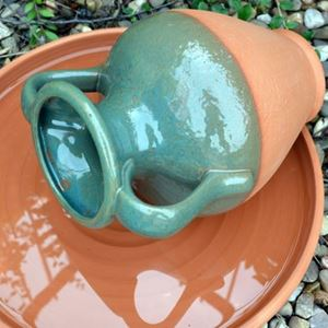 Picture of Water Feature Pot - Amphora With Green Glaze