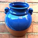 Picture of Classical Urn Wall planter with Blue Glaze