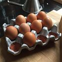 Picture of Ceramic Egg Holder - 12 Eggs - Pale Grey