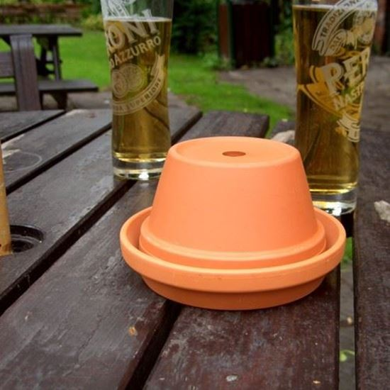 Picture of Half Flower Pot Ashtray with Unglazed Saucer